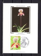 """Carte Maximum En Soie De 2005 N° YT 3763 """" ORCHIDEE MABEL SANDERS """" En Parfait état. CM - Orchidées"""