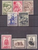 Iceland  - Two Semi - Postal Sets - Unused Stamps