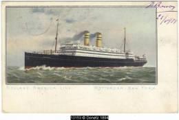 13153g HOLLAND - AMERICA LINE - Rotterdam - New York - 1908 - Paquebots