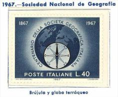 Italia. Italy. 1967 (**) National Geographic Society. Compass - 6. 1946-.. Republic