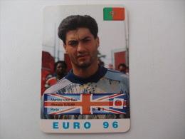 Euro Cup Football Vitor Baía Portugal Portuguese Pocket Calendar 1996 - Petit Format : 1991-00