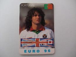 Euro Cup Football Fernando Couto Portugal Portuguese Pocket Calendar 1996 - Calendriers