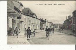 Chatenois  88    La Grande-Rue Et La Route De Mannecourt Tres Animée-Boucherie-Café Et Epicerie - Chatenois
