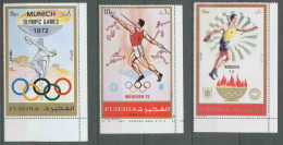 202 Fujeira  Michel** N° 882/882 A/b JO (olympic Games) MUNICH 72 - Verano 1972: Munich