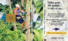 TELECARTE  POLYNESIE FRANCAISE 30 Unités  Jeune Fille  ******6 - French Polynesia