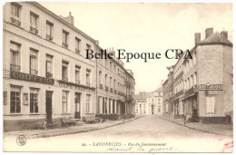 59 - LANDRECIES - Rue Du Gouvernement / COIFFEUR / Café Français ++++ L. S., éditeur, Haumont, #29 ++++ 1919 +++ RARE - Landrecies