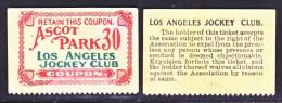 LOS  ANGELES  JOCKEY  CLUB  ASCOT  PARK - United States