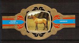 BAGUE DE CIGARE Grand Format 11,5 X 6 /LUGANO PAARDEN IV  N° 86  / CHEVAL : KARABAGH - Cigar Bands