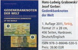 Gedenk-Banknoten Katalog 2011 Der Welt Neu 40€ Deutsch/english Commemorative Note Catalogue Numismatica Of All The World - Inglese