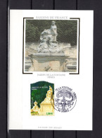 """Carte Maximum En Soie De 2005 N° YT 3786 """" JARDINS DE FRANCE : JARDIN DE LA FONTAINE A NIMES """" En Parfait état. CM - Cartes-Maximum"""