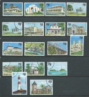 Fiji 1979 Building Definitive Short Set  Of 17 To $2  FU - Fiji (1970-...)