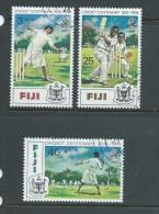 Fiji 1974 Cricket Anniversary Set 3 FU - Fiji (1970-...)