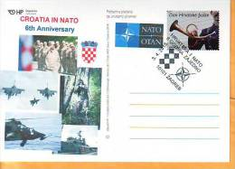 Croatia 2015 Y Postcard Overprint 6th Ann Of NATO Membership  Postmark Zagreb 03.04. - Kroatien