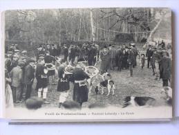 77 - CHASSE A COURRE EN FORET DE FONTAINEBLEAU - VAUTRAIT LEBAUDY - LA CUREE - Fontainebleau