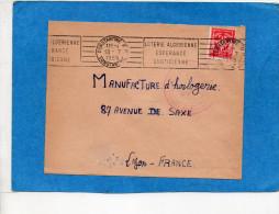 """MARCOPHILIE-Lettre-Algérie-cad 1955- Constantine+ Flamme """"loterie Algérienne Espérance Quotidienne""""stamp FM - Marcophilie (Lettres)"""