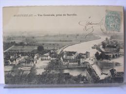 77 - MONTEREAU - VUE GENERALE PRISE DE SURVILLE - Montereau