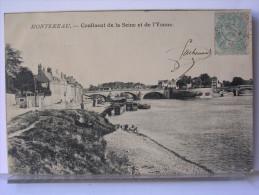 77 - MONTEREAU - CONFLUENT DE LA SEINE ET DE L'YONNE - PENICHES - Montereau