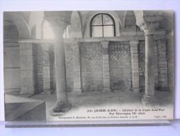 77 - JOUARRE - INTERIEUR DE LA CRYPTE SAINT PAUL - MUR MEROVINGIEN VIIe SIECLE - La Ferte Sous Jouarre