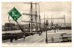 ROUEN (76) - LE QUAI DU HAVRE ET LE TRANSBORDEUR - Rouen