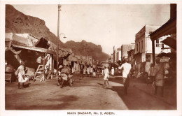 ¤¤  -   YEMEN   -   ADEN  -  Carte-Photo   -  Main Bazaar     -  ¤¤ - Yémen