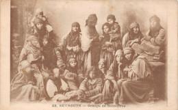 ¤¤  -  22   -   LIBAN   -   BEYROUTH  -  Groupe De Bédouines     -  ¤¤ - Liban