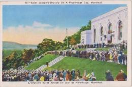 Carte Postale Ancienne,amérique,CANADA, QUEBEC,MONTREAL EN 1920,PILGRIMAGE,PELERINAG E,SAINT JOSEPH´S ORATORY,FOULE - Montreal