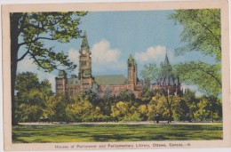 AMERIQUE,CANADA,ONTARIO,O TTAWA,1930,PARLIAMENT,PAR LEMENT,LIBRARY,PARC ANCIEN,BANC PUBLIC - Ottawa