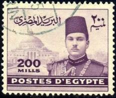 King Farouk & Pyramids, Egypt Stamp SC#269B Used - Égypte