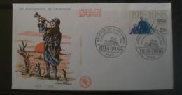 FDC  70 éme ANNIVERSAIRE DE L'ARMISTICE 1918-1988   1988       0239 - FDC