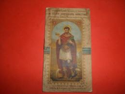 Libretto San Espedito Martire Cm13x7,5 Circa Copertina Leggermente Staccata E Alcune Macchie Del Tempo - Images Religieuses