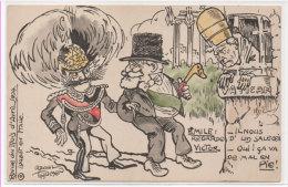 Raoul THOMEN - 4 - Revue Du Mois D' Avril 1904 - Loubet En Itale - Pape Et Roi Italie  Tirage Limité (76965) - Other Illustrators
