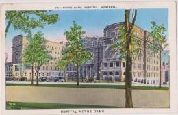 Carte Postale Ancienne,amérique,CANADA, QUEBEC,MONTREAL EN 1920,CAR,AUTO,TACOT,HOSPI TAL,HOPITAL NOTRE DAME - Montreal