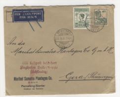 Niederl�ndisch Indien Brief 1931 nach Deutschland / Perfin Firmenlochung