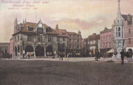 PETERBOROUGH -TOWN HALL AND MARKET PLACE - Northamptonshire