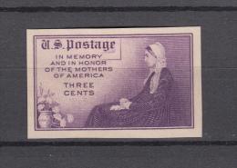 USA 1934,1V,Mothers Of America,IMPERF,Unused/Ongebruikt(E4573us) - Verenigde Staten