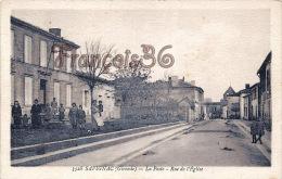 (33) Savignac - La Poste - Rue De L'Eglise - 2 SCANS - Altri Comuni