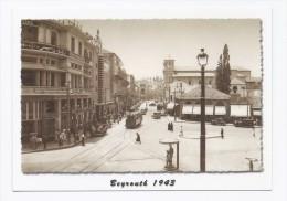 Emir Bachir street Downtown in 1943, postcard Lebanon Beirut, carte postale Liban Beyrouth