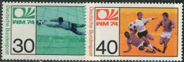 Bundespost 1974. Michel #811/12 MNH(**)/Luxe. Soccer. WM-74 (TS22) - Coppa Del Mondo