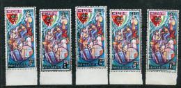 1995 UKRAINE Local Post; SPUTNIK SPACE C14-1 Overprint On  USSR 1980 Mint Not Hinged Stamps