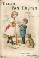 CHROMO-CHOCOLAT-CACAO VAN HOUTEN-WEESP-enfants-chien-bilboquet-ballon-livre-cocoa-sucre - Van Houten