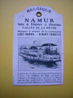 Petite étiquette Pub Villégiature Excursions Namur Belgique Vallée De La Meuse Grotte De Han - Reclame