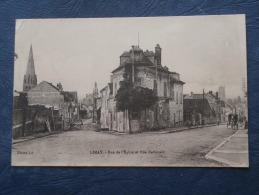 Limay  Rue De L'Eglise Et Rue Nationale - Menuisier Beauchet - Animée - Ed. LS - écrite - L196 - Limay