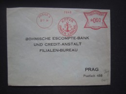 BRIEF Frankotype Freistempel Postfreistempel 1934 PRAHA 5 Kotva Anker /// Tm2131 - Tschechoslowakei/CSSR