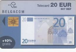 BELGIUM - Banknote 20 euro, exp. date 30/06/05, used