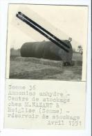 Photo - Ammoniac Anhydre Centre De Stockage Chez M.NAZART à Roiglise - Réservoir De Stockage- Avril 1951 - Photos
