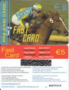 BELGIUM - Horse, Fast prepaid card 5 euro, mint