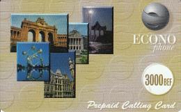 BELGIUM - Econophone prepaid card 3000 BEF, mint