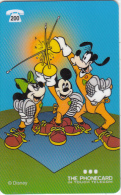 BELGIUM - Disney/Mickey-Mini & Goofy, In Touch Telecom prepaid card 200 BEF, used