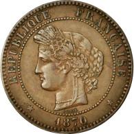 Monnaie, France, Cérès, 10 Centimes, 1870, Paris, TTB+, Bronze, KM:815.1 - D. 10 Centimes
