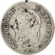 France, Second Empire, 20 Centimes Napoléon III 1864 K (Bordeaux), KM 805.3 - E. 20 Centimes